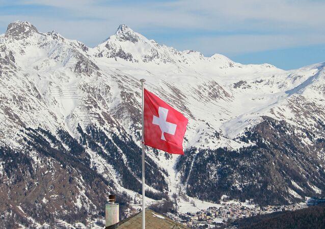Kurort Sankt Moritz w Szwajcarii.