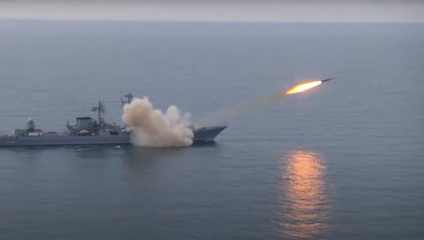 Krążownik rakietowy z rakietą Wulkan - Sputnik Polska