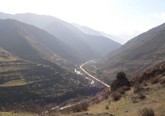 Widok regionu Road Syunik Azerbejdżan Armenia