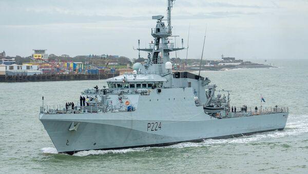 """Brytyjski statek patrolowy """"Trent"""". - Sputnik Polska"""