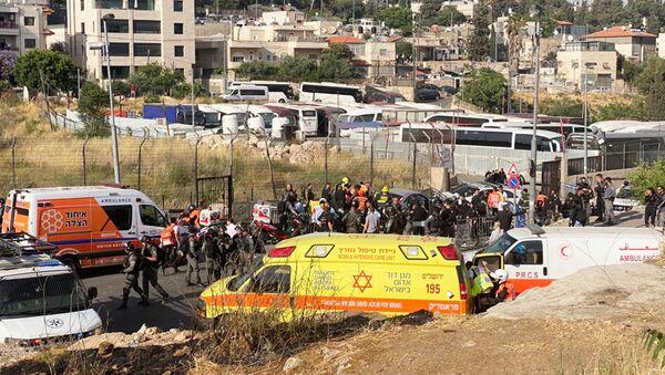 Do próby celowego najechania na policjantów doszło w dzielnicy Szejka Jarrah w Jerozolimie. - Sputnik Polska