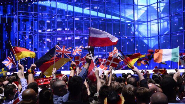 Publiczność podczas Konkursu Eurowizji - Sputnik Polska