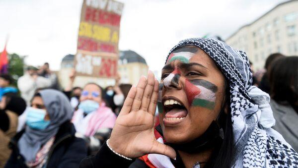 Demonstracja zwolenników Palestyny w Belgii - Sputnik Polska