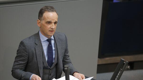 Minister spraw zagranicznych Niemiec Heiko Maas przemawia na posiedzeniu w Berlinie - Sputnik Polska