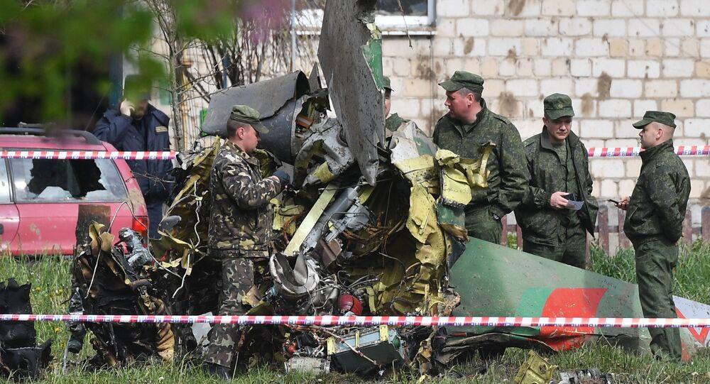 Katastrofa samolotu Jak-130 pod Baranowiczami w obwodzie brzeskim.