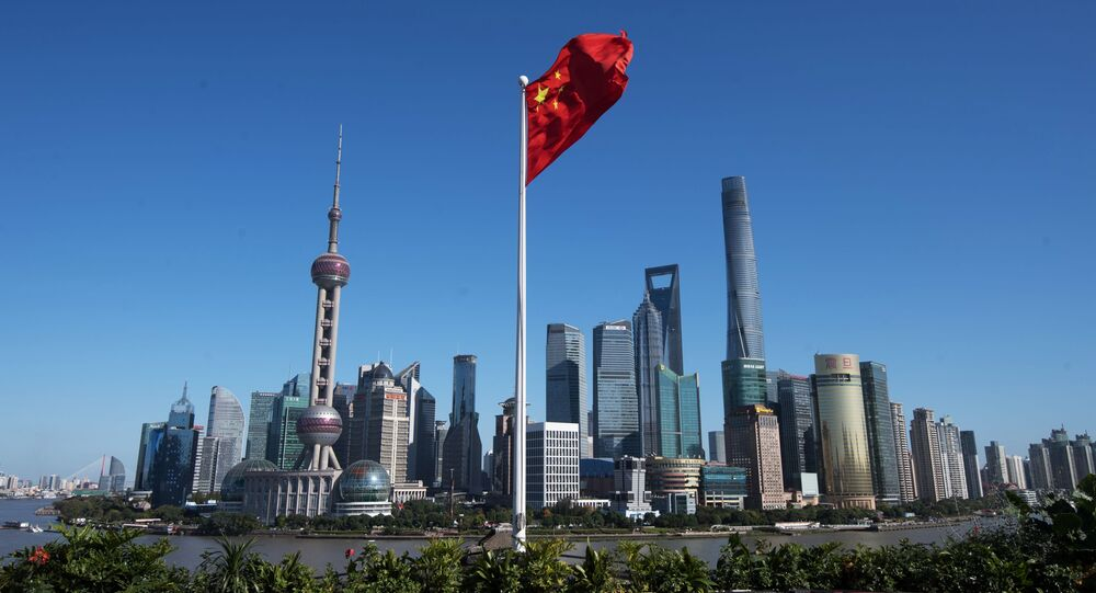 Widok na dzielnicę Pudong w Szanghaju