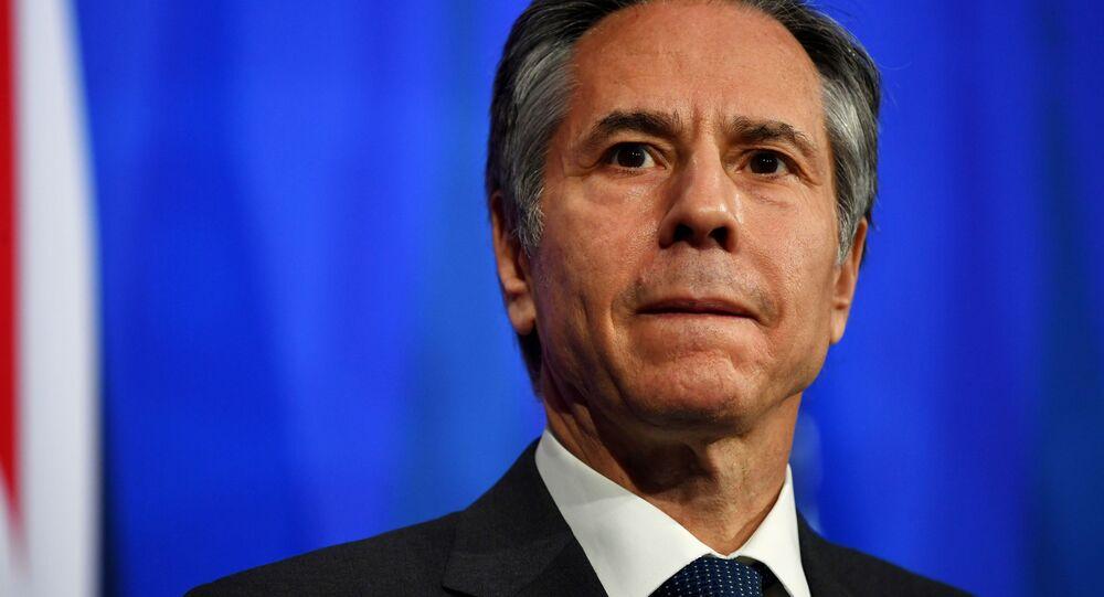 Amerykański sekretarz stanu Anthony Blinken.