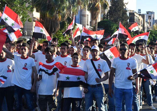 Wiec poparcia dla prezydenta Syrii