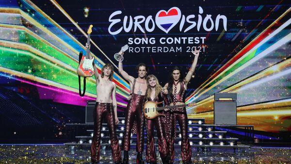 Włoski zespół Maneskin, zwycięzcy finału międzynarodowego konkursu Eurowizja 2021 - Sputnik Polska