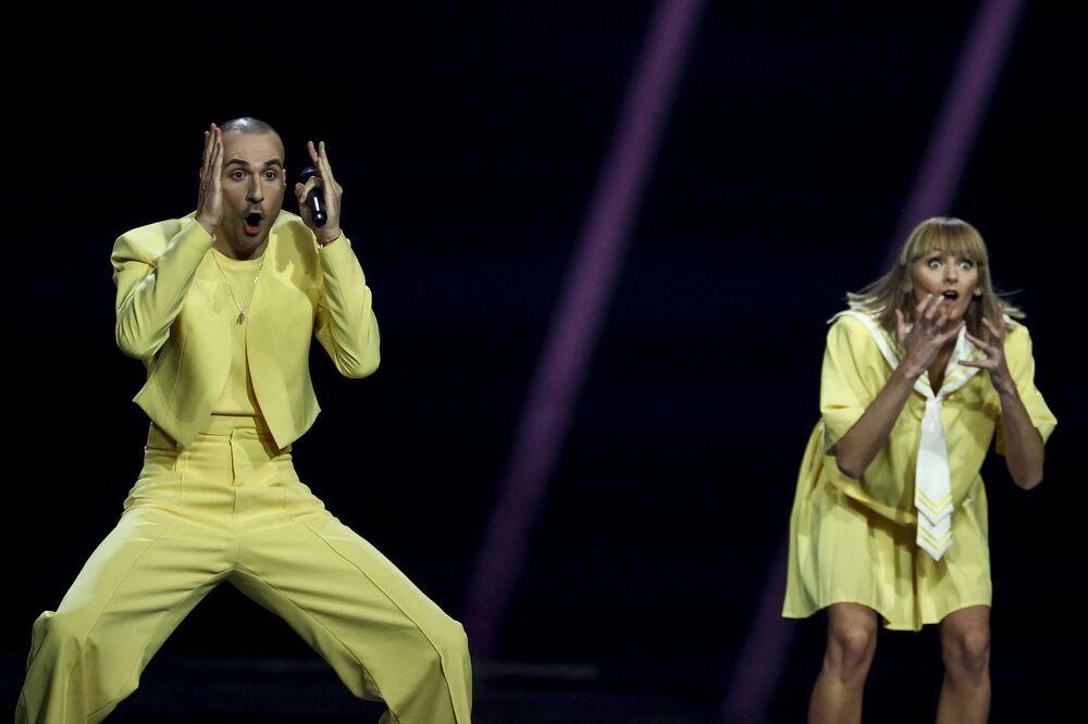 Zespół The Roop podczas finału 65. Konkursu Piosenki Eurowizji w Rotterdamie