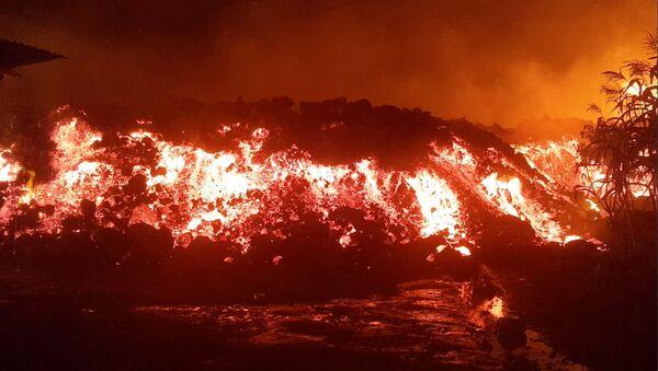 Erupcja wulkanu Nyiragongo w Demokratycznej Republice Konga. - Sputnik Polska