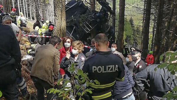 Katastrofa kolejki górskiej we włoskich Alpach - Sputnik Polska