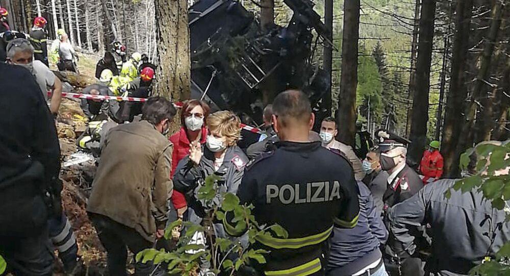 Katastrofa kolejki górskiej we włoskich Alpach