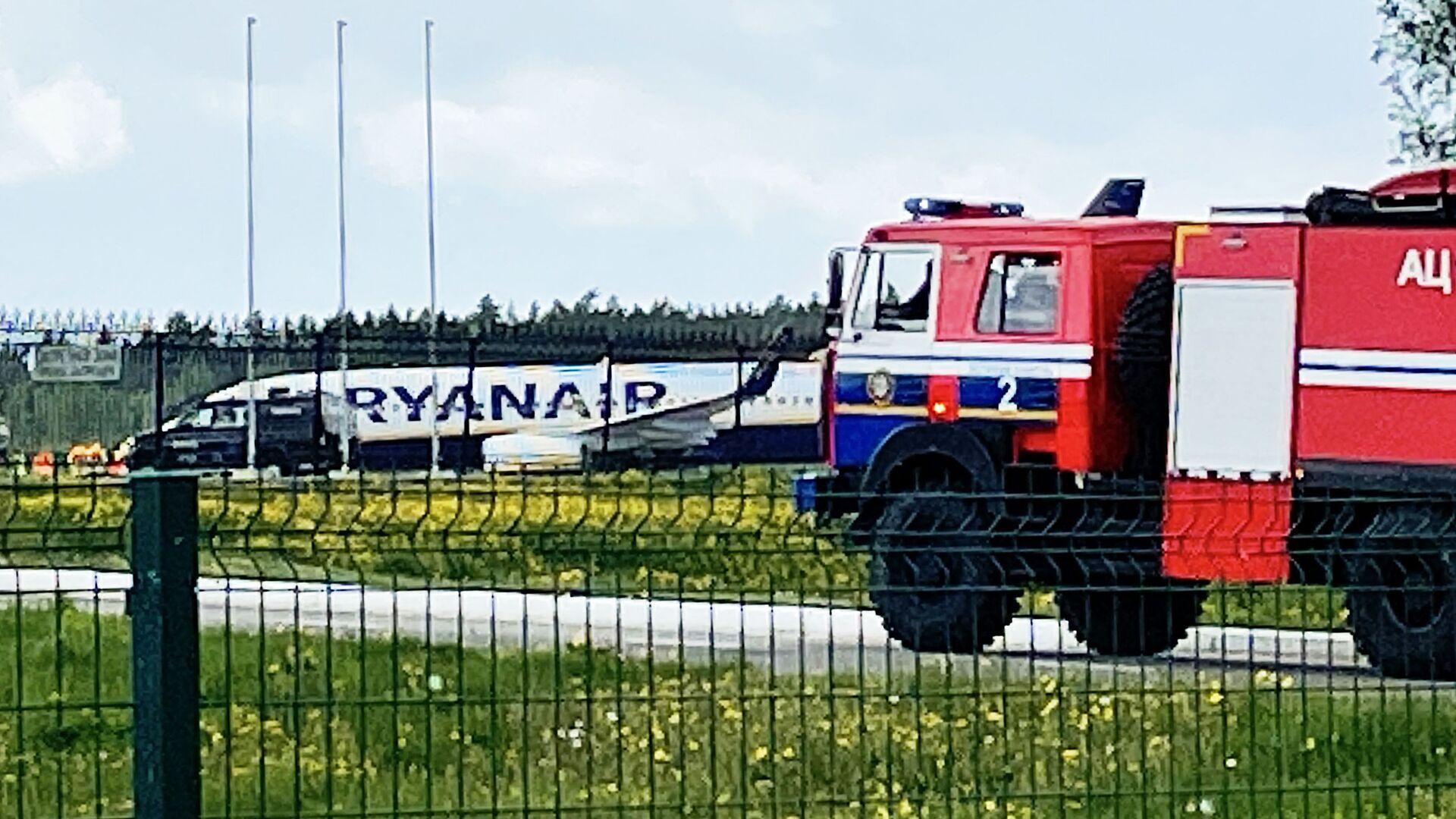 Samolot Ryanair w Mińsku - Sputnik Polska, 1920, 14.06.2021