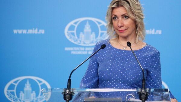 Rzeczniczka MSZ Rosji Maria Zacharowa podczas briefingu w Moskwie - Sputnik Polska