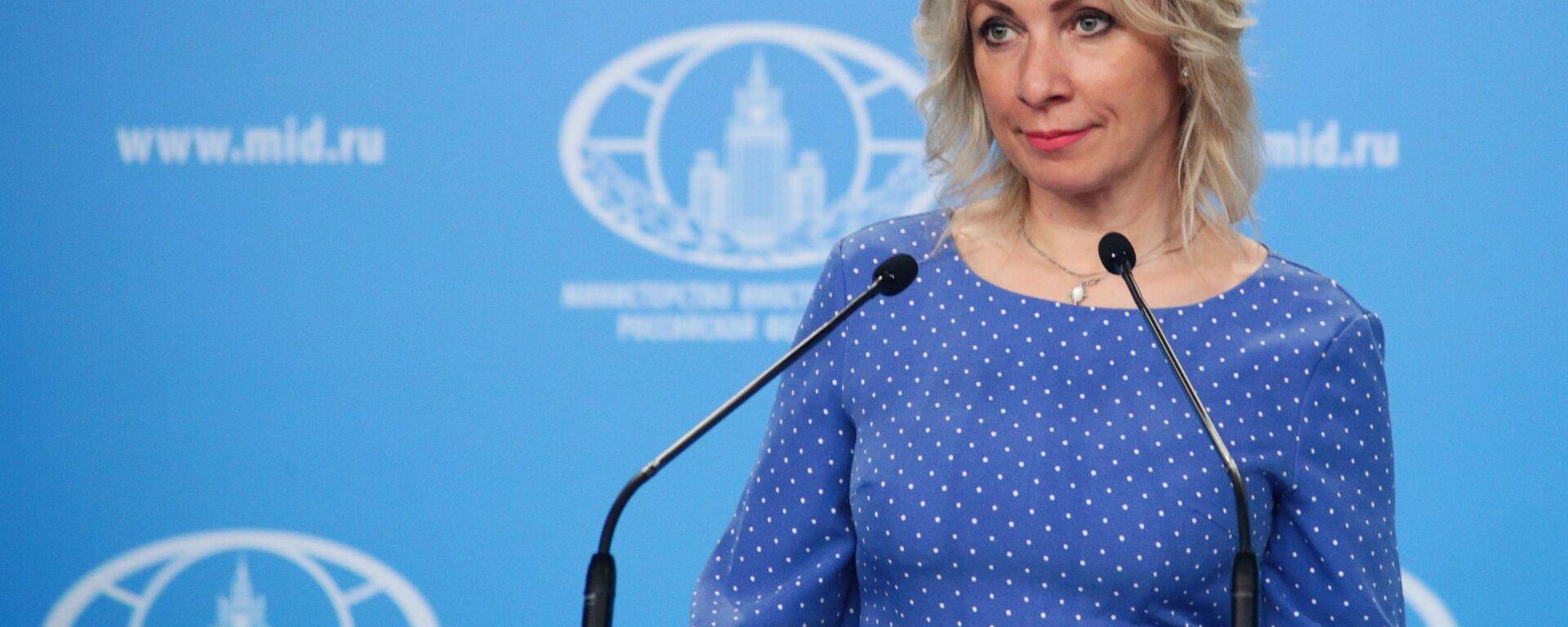 Rzeczniczka MSZ Rosji Maria Zacharowa podczas briefingu w Moskwie - Sputnik Polska, 1920, 24.05.2021