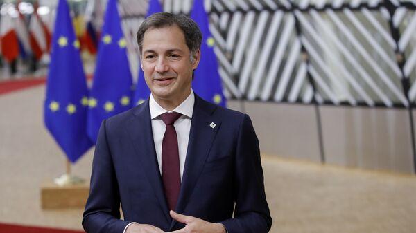 Premier Belgii Alexander De Croo podczas dyskusji przywódców UE w Brukseli - Sputnik Polska
