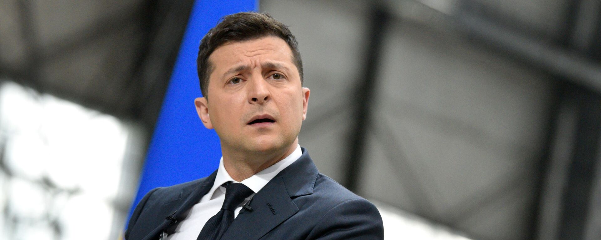 Prezydent Ukrainy Wołodymyr Zełenski na konferencji prasowej po dwóch latach urzędowania na stanowisku głowy państwa - Sputnik Polska, 1920, 28.07.2021