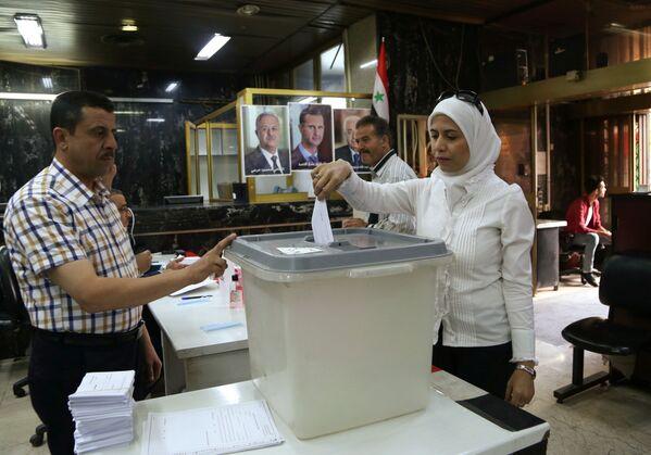 Wyboru prezydenckie 2021 w Syrii - Sputnik Polska