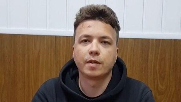 Białoruski aktywista Raman Pratasiewicz, były redaktor naczelny telegramu Nexta - Sputnik Polska