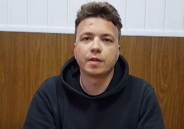 Białoruski aktywista Raman Pratasiewicz, były redaktor naczelny telegramu Nexta