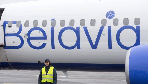 Samolot białoruskich linii lotniczych Belavia - Sputnik Polska