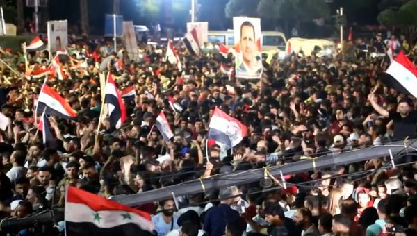 Damaszek świętuje zwycięstwo Baszara al-Asada w wyborach prezydenckich w Syrii - Sputnik Polska