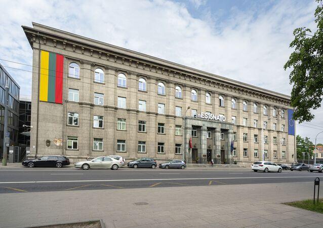 Gmach MSZ Litwy w Wilnie.