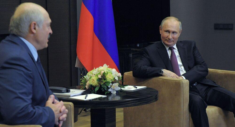Spotkanie Putina z Łukaszenką w Soczi