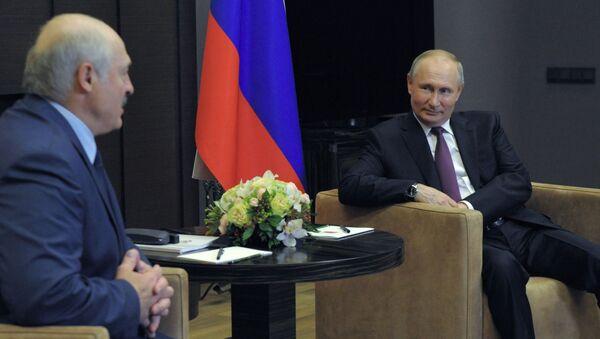 Spotkanie Putina z Łukaszenką w Soczi - Sputnik Polska