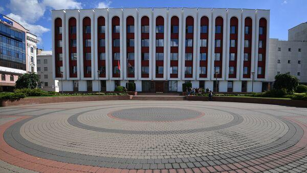 Budynek MSZ Białorusi w Mińsku. - Sputnik Polska