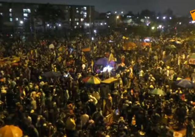 Płonące ulice Bogoty: Protesty przeciwko rządowi