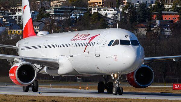 Samolot A321 OE-LBA linii lotniczych Austrian Airlines. - Sputnik Polska