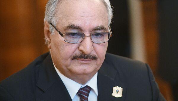 Dowódca Libijskiej Armii Narodowej (LNA), marszałek Chalifa Haftar. - Sputnik Polska