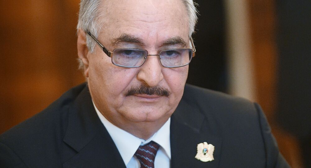Dowódca Libijskiej Armii Narodowej (LNA), marszałek Chalifa Haftar.