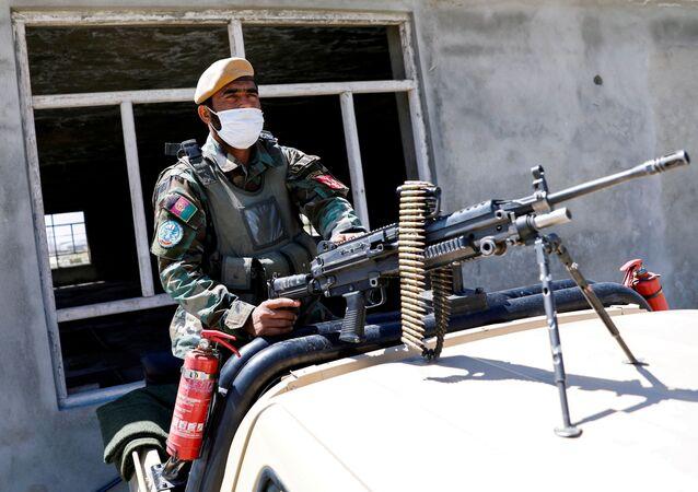 Afgański żołnierz.
