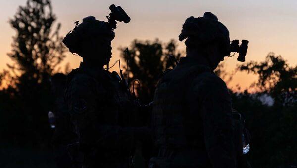 Amerykańscy żołnierze podczas ćwiczeń NATO Swift Response 21 - Sputnik Polska