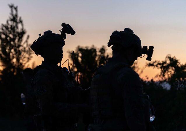 Amerykańscy żołnierze podczas ćwiczeń NATO Swift Response 21.