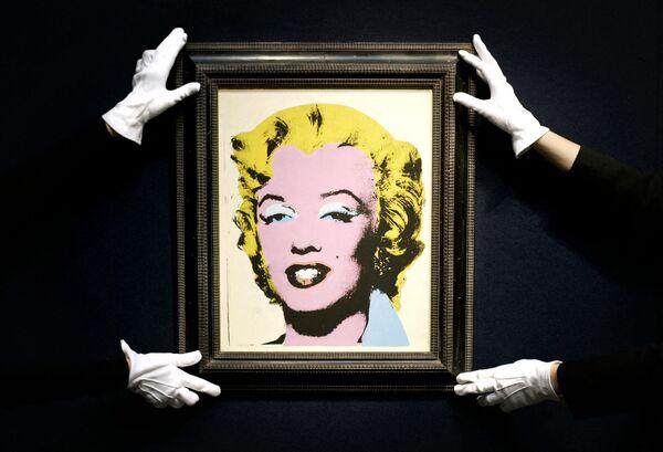 Dzieło Andy'ego Warhola Lemon Marilyn na aukcji Christie's - Sputnik Polska