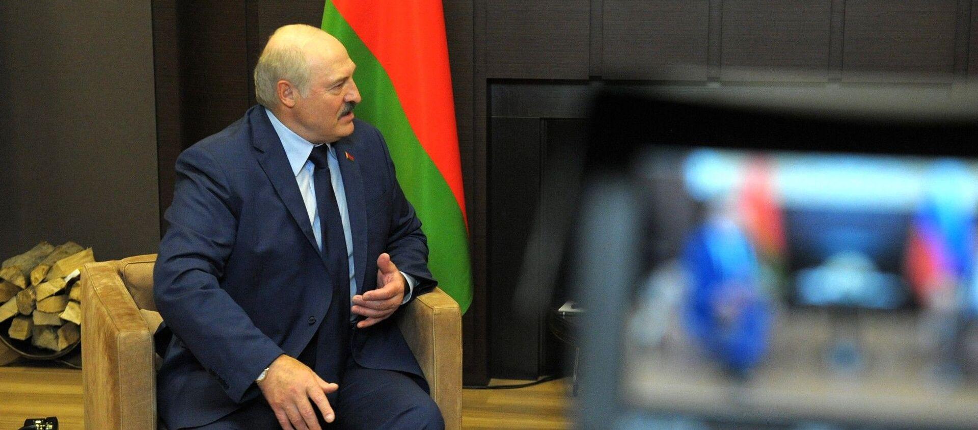 Prezydent Białorusi Alaksandr Łukaszenka podczas spotkania z prezydentem Rosji Władimirem Putinem - Sputnik Polska, 1920, 01.06.2021