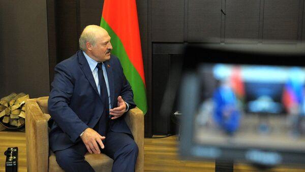 Prezydent Białorusi Alaksandr Łukaszenka podczas spotkania z prezydentem Rosji Władimirem Putinem - Sputnik Polska