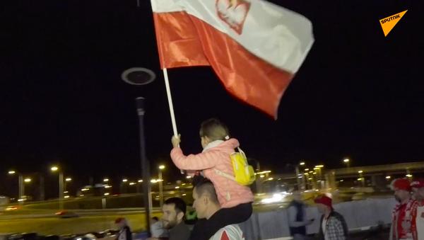Emocje kibiców po meczu Polska-Rosja - Sputnik Polska