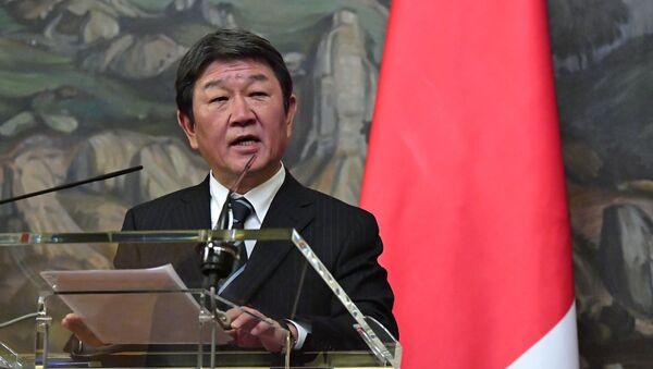 Minister spraw zagranicznych Japonii Toshimitsu Motegi - Sputnik Polska