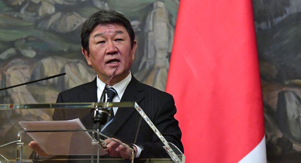 Minister spraw zagranicznych Japonii Toshimitsu Motegi