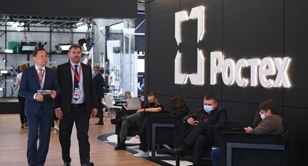 """Stoisko """"Rostechu"""" na Międzynarodowym Forum Ekonomicznym w Petersburgu"""