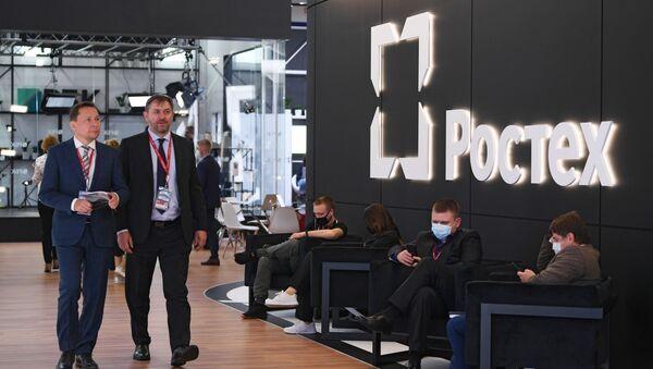 """Stoisko """"Rostechu"""" na Międzynarodowym Forum Ekonomicznym w Petersburgu - Sputnik Polska"""