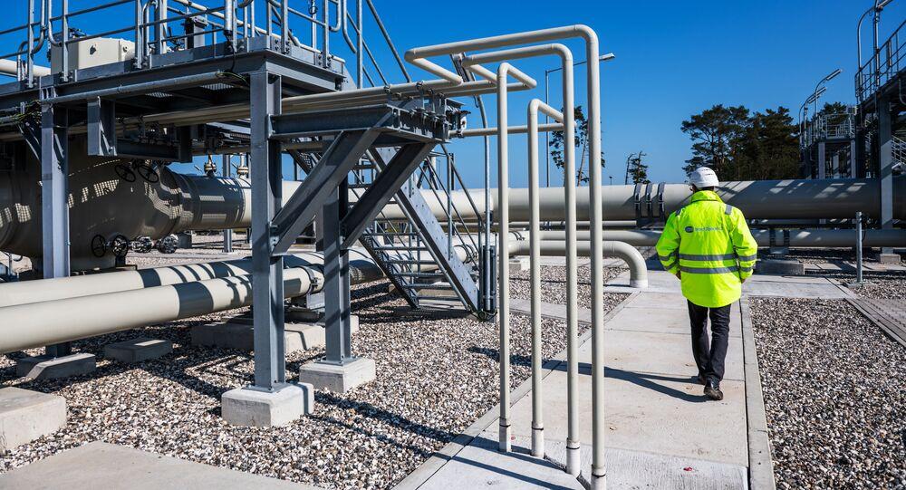 Centrum dystrybucji gazu gazociągu Nord Stream 2 w Lubminie, Niemcy.