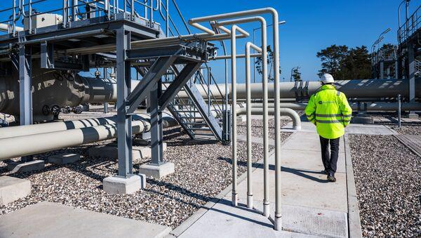 Centrum dystrybucji gazu gazociągu Nord Stream 2 w Lubminie, Niemcy. - Sputnik Polska