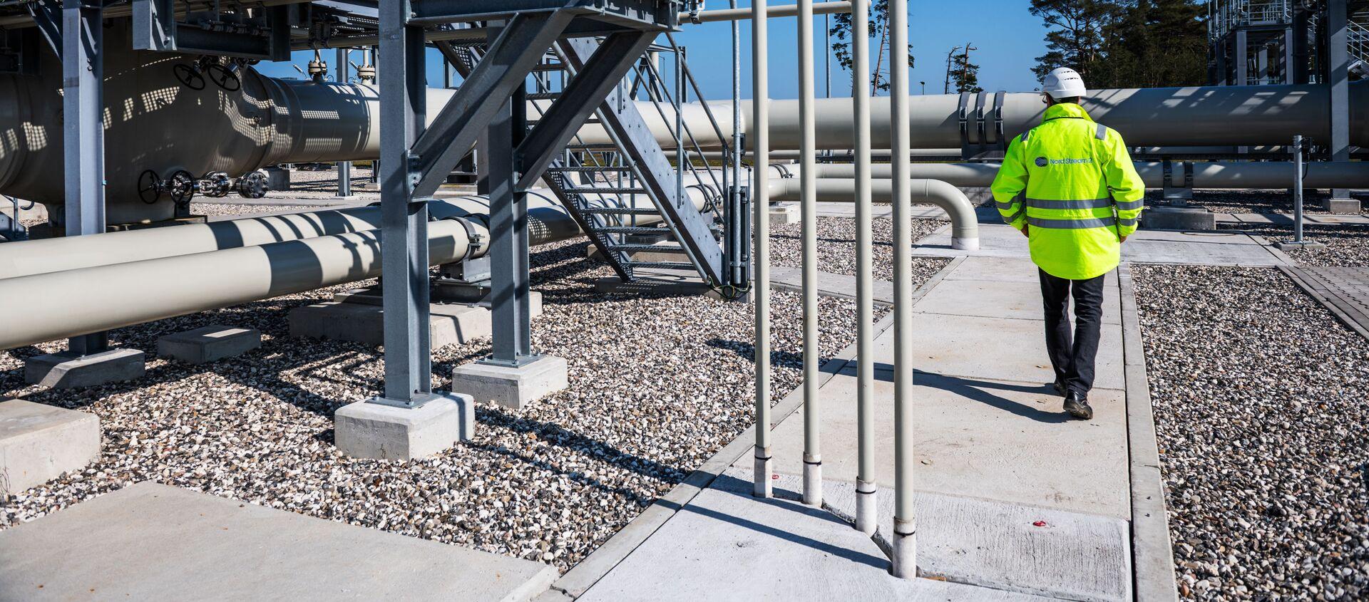 Centrum dystrybucji gazu gazociągu Nord Stream 2 w Lubminie, Niemcy. - Sputnik Polska, 1920, 04.06.2021