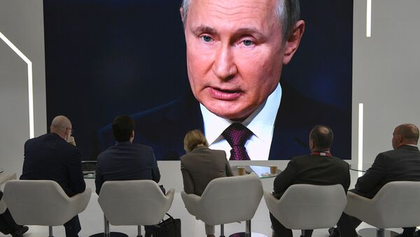 Prezydent Rosji uczestniczy w Międzynarodowym Forum Ekonomicznym w Petersburgu - Sputnik Polska